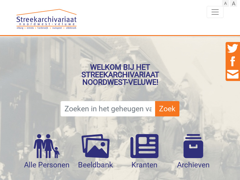 Screenshot van website